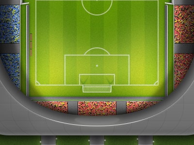 Illustration illustration work in progress sport football stadium