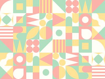 Weekly Warmup #66 flat minimal branding illustration design illustrator geometric fourcolors patterndesign pattern weeklywarmup dribbleweeklywarmup