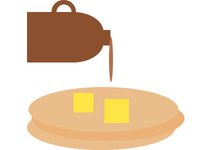 CSS Breakfast - pancakes & syrup