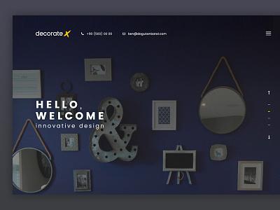DecorateX ux minimal web design ui design