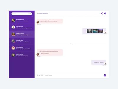 Chat message chat app chat webdesign design flat minimal ux ui