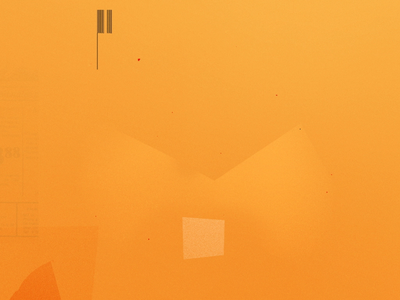 Butterfly Bounce paper orange stop motion grunge butterfly motion graphics illustration texture loop motion gif animation