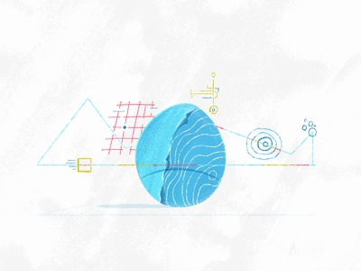 Robins Egg drawn fun red doodle blue geometry abstract egg color