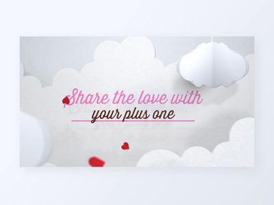 Share the love cut paper paper clouds wrigley mars target love motion graphics motion design animation skittles valentines video