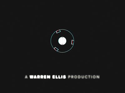 A Warren Ellis Production castlevania motion graphic globe satellite scifi science-fiction science black ident design tag netflix motion logo animation