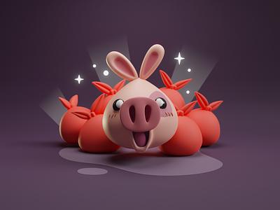 Humble bundle character pig humble bundle character b3d blender