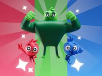 RGB Team cute cartoon characters character hero illustration team rgb b3d blender
