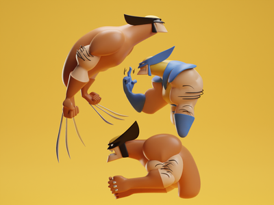 Wolvie (Collab with Damani Hughes) xmen marvel bub wolvie wolverine b3d illustration blender