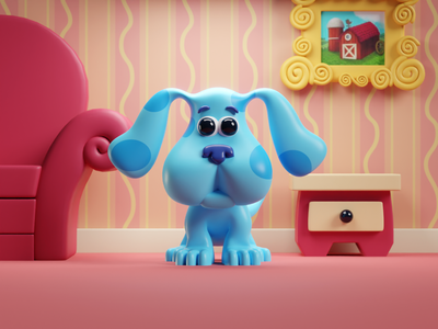 Look at all you've done and all you've accomplished proud of you illustration render eyes cute doggo blue steve blues clues blender b3d