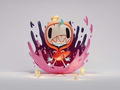 Little Possessed Dude render cute halloween possessed 3d doodle illustration b3d blender
