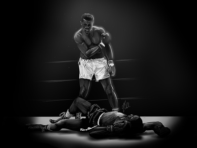 Muhammad Ali rip tribute muhammad muhammad ali ali sketch illustration
