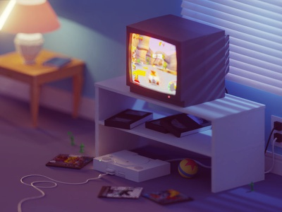 The one with the 1 Mb memory card toys ps1 toy story sony playstation 2000s 90s b3d blender isometric low poly