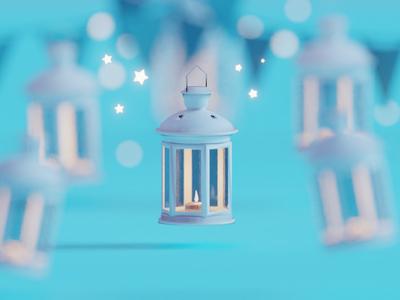 The one for Ramadan lamp lantern ramadan illustration b3d blender render isometric low poly