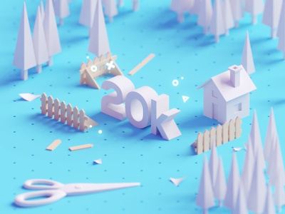 20K!!!! thank you 20k render 3d b3d isometric low poly blender