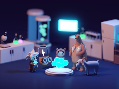 Account Spark Rejected Renders design illustration character animation salesforce dreamspark character b3d 3d isometric blender