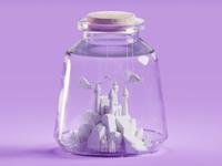 Castle in a jar