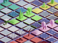 Random 3D Tiles render random game assets tiles illustration b3d low poly blender