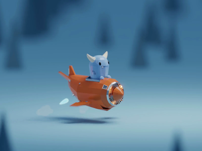 On The Road To Nowhere (Animation) app cute monster blue little fella animation illustration b3d low poly isometric blender