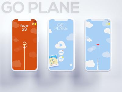 Go Plane Redesign b3d mockup gameplay go plane vector mobile game ui isometric blender