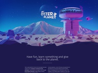 An Otter Planet Website Illustration