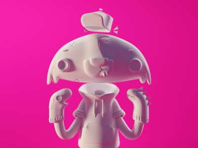 Racoon Trance (WIP shot) render character concept sculpt trance racoon character b3d blender