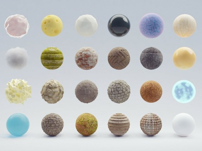 Random shaders & textures shaders materials isometric b3d texture haven blender