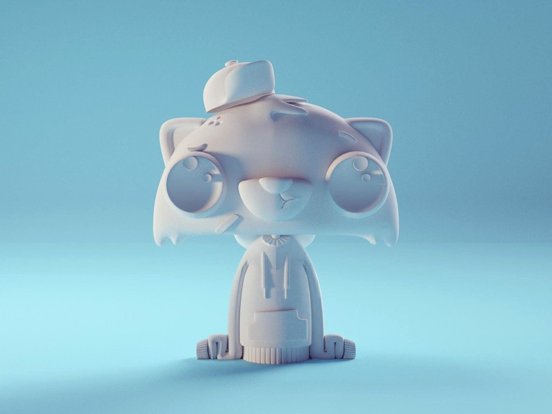 New Racoon Model (WIP) cute chibi racoon character isometric b3d blender