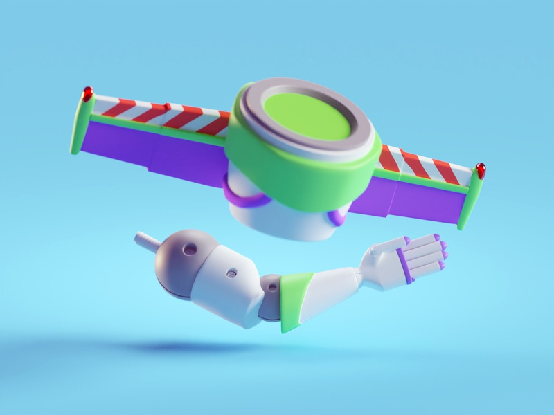 Toy Story Items toy arm pixar disney items illustration isometric toy story b3d blender