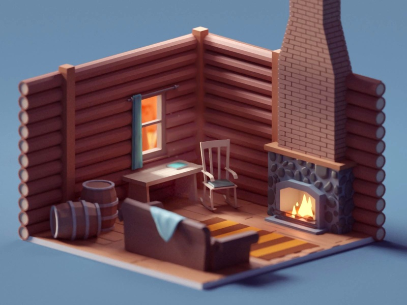 Log Cabin Interior (WIP)