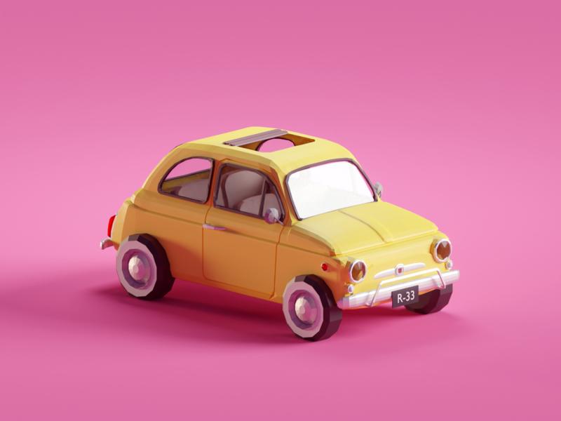 Fiat 500 (Lupin fan art WIP)