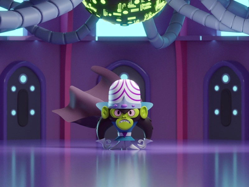 Mojo Jojo mojo jojo lair powerpuff girls villain isometric b3d blender