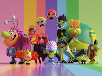 Powerpuff Girls Villains (Rainbow BG)