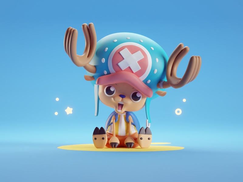 Chopper Render バスターコール ワンピース anime one piece render illustration character isometric b3d blender