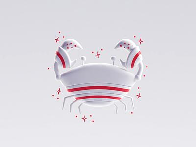 Cancer cancer zodiac render illustration icons b3d