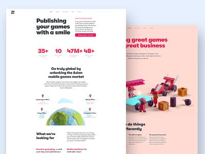 JoyPac Games Website gaming render illustration website isometric b3d blender