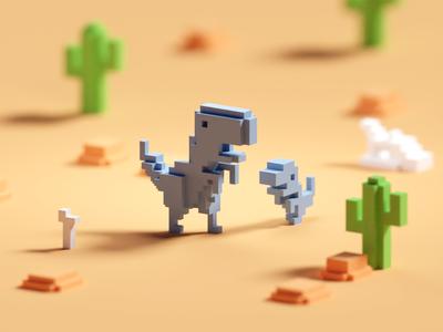 No Internet Dino (colored version)