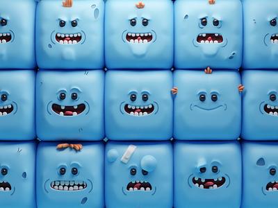 Look at meeeee!! (WIP) meeseeks rick and morty render illustration b3d blender