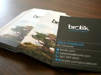 Brolik Business Cards