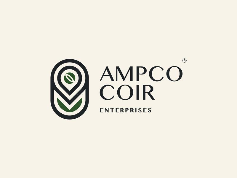 Ampco Coir brand identity branding logo coir