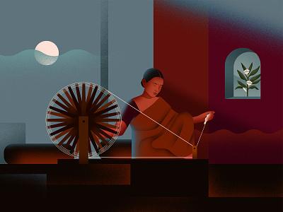 Sounds Of Looms loom weavers minimal art design exercise ui branding graphic design clothing illustration