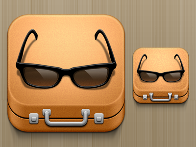 Suitcase And Glasses icon ios