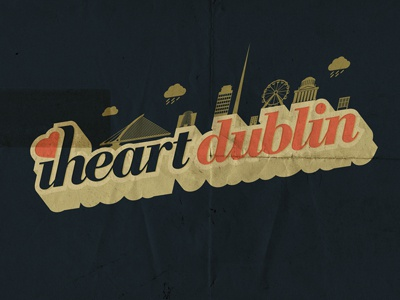 iheartdublin dublin iheartdublin ireland type 3d illustrator irish flourish box typography isometric arsebiscuits