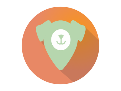 Fetch roof green orange dog fetch design icon android