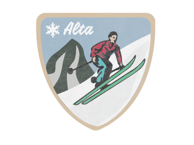 Alta Jacket Patch warm-up design illustrator threads vintage patch patch skiing alta