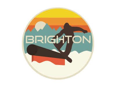 Brighton Retro Patch snowboard snowboarding ski brighton emblem patch work patches illustrator