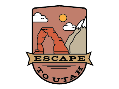 Escape To Utah escape clouds arch wasatch camping delicate arch arches mountains escape to utah design patch utah