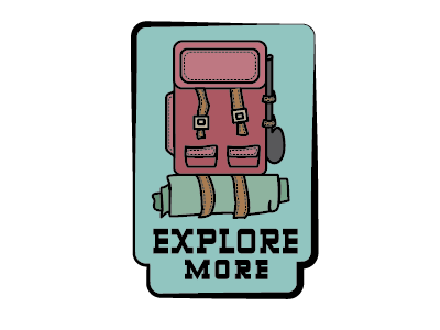 Explore More explore camp camping illustrator patches patch backpacking hiking explore more