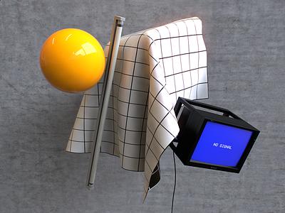 Gridform Vanitas 𝛼 vanitas daylight lighting concrete cinema4d 3d pale grid