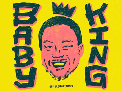 Baby King netflix type baby king handlettering david chang ugly delicious illustration lettering