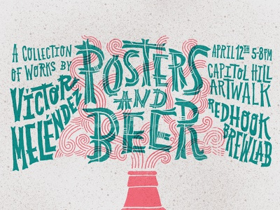 Posters and Beers screenprinting seattle poster typography beer handlettering lettering type